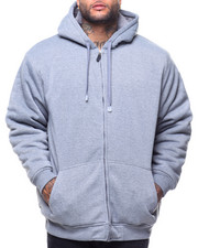 Light Jackets - L/S Dyed To Match Sherpa Lined Fleece Hoodie (B&T)