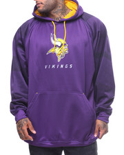 NBA, MLB, NFL Gear - L/S Vikings Poly Fleece Hoodie (B&T)