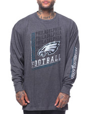 NBA, MLB, NFL Gear - L/S Eagle Crew L/S TEESHIRT (B&T)