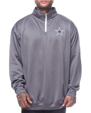 NBA, MLB, NFL Gear - L/S Dallas Cowboys 1/4 Poly Fleece Pullover Sweatshirt (B&T)