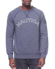 Nautica - LS Pique Logo Crewneck Sweatshirt