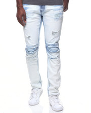 Buyers Picks - BLEACHED OUT PLEATED KNEE JEAN