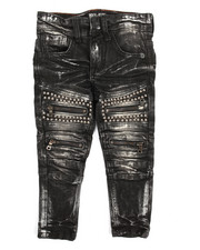 Boys - Metal Stud Trim Biker Jean (2T-4T)-2171634