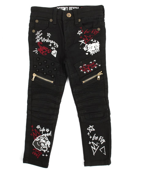 Doodle Print Jean (4 7) by Arcade Styles