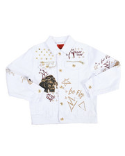 Light Jackets - Doodle Print Jean Jacket (8-20)