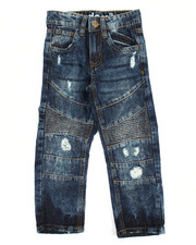 Bottoms - Rip & Repair Moto Denim Jean (4-7)