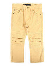 Bottoms - Pleated Knee Twill Rip & Repair Pant (2T-4T)