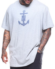 Nautica - S/S Chambray Anchor Graphic Tee (B&T)