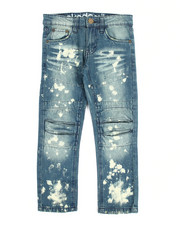 Akademiks - Pleated Splatter Denim Jean (8-20)
