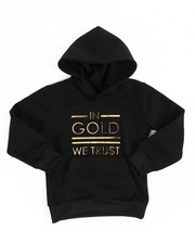Akademiks - Gold 3D Embossed Fleece Hoodie (4-7)