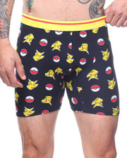 Buyers Picks - Pikachu Pokeball Grid Boxer Brief