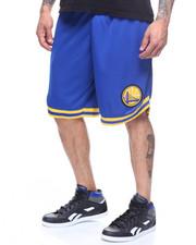 Shorts - WARRIORS POLY MESH SHORT W STRIPE DETAIL