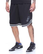 Shorts - SPURS POLY MESH SHORT W STRIPE DETAIL