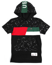 Southpole - Cut & Sew Hooded Tee (8-20)