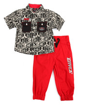 Sets - 2 Piece Woven Jogger Set (4-7)