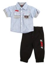 Infant & Newborn - 2 Piece Denim Woven Jogger Set (Infant)