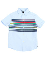 Short-Sleeve - Euclid Printed Stripe Woven (4-7)