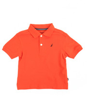Nautica - Anchor Stretch Pique Polo (2T-4T)