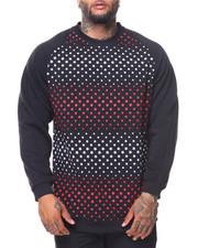 Pullover Sweatshirts - Fleece Printed Pullover Sweatshirt (B&T)-2135019