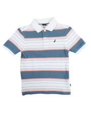 Boys - Noah Stripe Pique Polo (8-20)