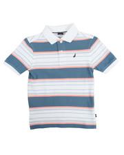 Boys - Noah Stripe Pique Polo (4-7)