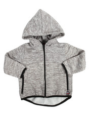 Hoodies - Yarn Dyed High Neck Full Fleece Hoodie (4-7)