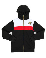 Hoodies - Quilt Trimmed Full Zip Fleece Hoodie (8-20)