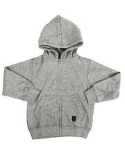 Boys - Yarn Dyed Melange Fleece Hoodie (4-7)