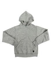 Boys - Yarn Dyed Melange Fleece Hoodie (8-20)
