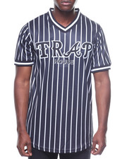 Buyers Picks - TRAP HOUSE STRIPED BASEBALL JERSEY