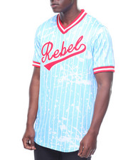 Buyers Picks - REBEL STRIPE & SPLATTER BASEBALL JERSEY
