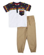 Sets - Navajo Knit Top & Twill Jogger Set (4-7)