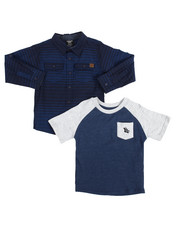 Sets - 2PC Woven & Raglan Tee Set (4-7)