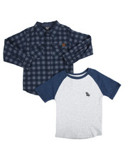 Sets - 2 PC Woven & Raglan Tee Set (4-7)