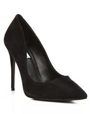 Heels - Cardi B Daisie Black Suede Stiletto Heel-2176054