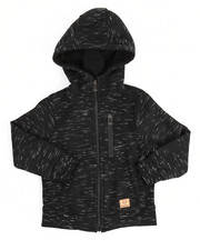 Hoodies - Yarn Dyed & Rib Trim Full Zip Fleece Hoodie (2T-4T)