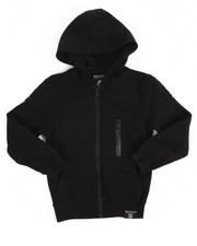 Hoodies - Quilted Full Zip Fleece Hoodie (8-20)