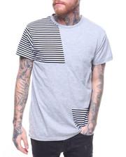 T-Shirts - STRIPE CUT & SEW TEE