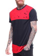 T-Shirts - SLASHED COLOR BLOCK TEE