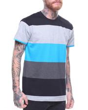 T-Shirts - HI-LOW MULTI STRIPE TEE