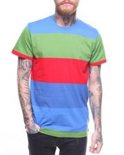 T-Shirts - HI-LOW MULTI RUGBY STRIPE TEE