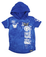 SWITCH - Graffiti Print Hooded Tee (4-7)-2176743