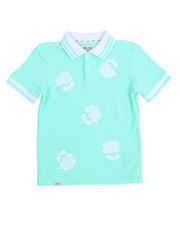 Tops - Marco Polo Embroidered Big Rose Polo (8-20)