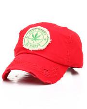 Dad Hats - Marijuana Plant Distressed Dad Hat