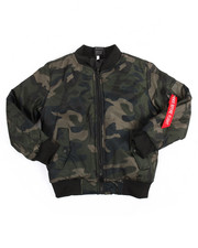 Light Jackets - Camo Bomber Jacket (8-20)