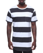 T-Shirts - WASHED RUGBY STRIPE POCKET TEE