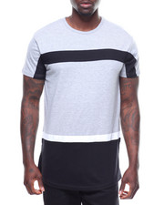 T-Shirts - COLOR BLOCK TEE W SIDE ZIP DETAIL