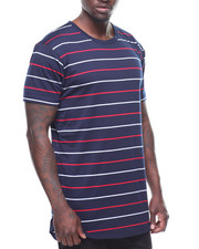 T-Shirts - CREWNECK STRIPE SCALLOP TEE