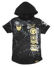 Hoodies - Graffiti Print Hooded Tee (8-20)