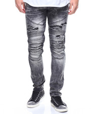 Buyers Picks - Biker Fit Faux Lthr Trim Jean